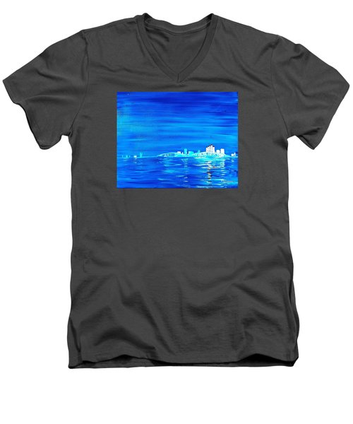 Fort Myers By Night Men's V-Neck T-Shirt