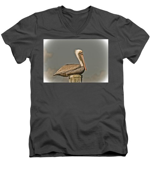 Fort Pierce Pelican Men's V-Neck T-Shirt