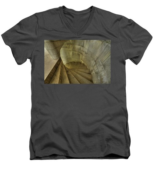 Fort Popham Stairwell Men's V-Neck T-Shirt