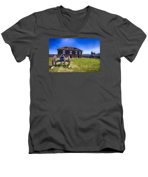 Fort Ross State Historic Park Men's V-Neck T-Shirt by Jason Abando
