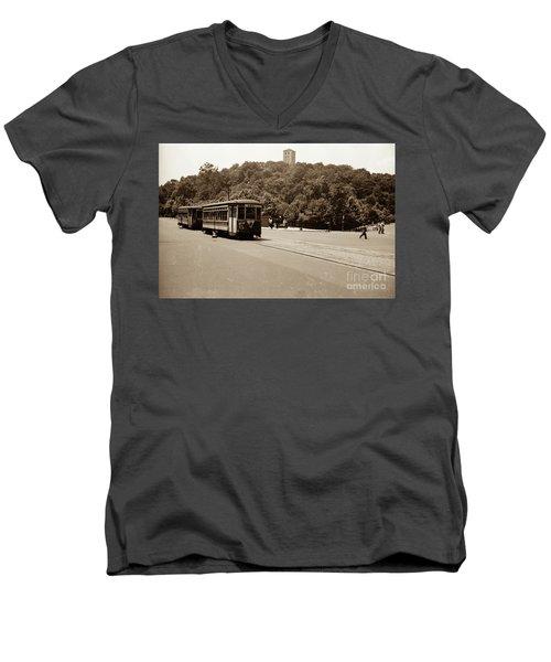Fort Tryon Trolley Men's V-Neck T-Shirt