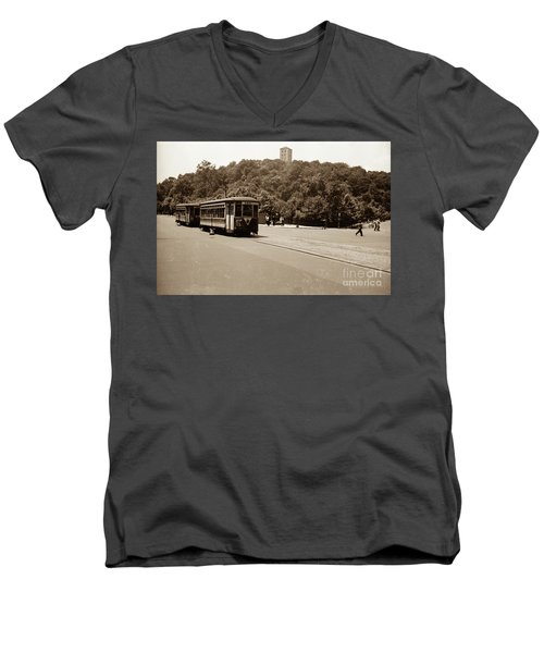 Fort Tryon Trolley Men's V-Neck T-Shirt