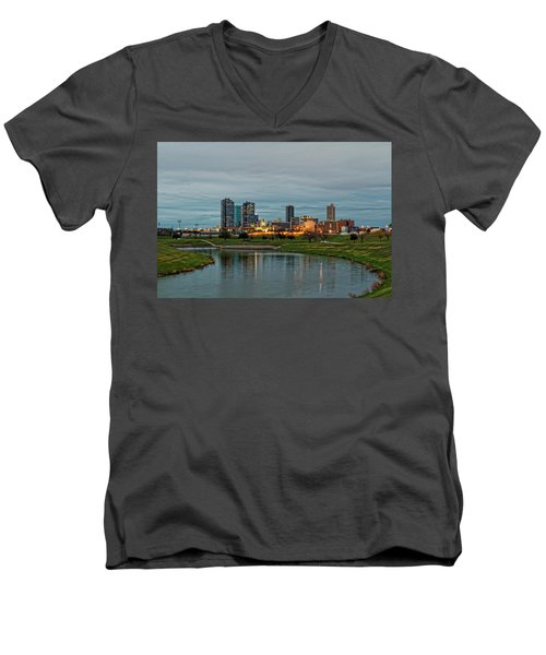 Fort Worth Color Men's V-Neck T-Shirt by Jonathan Davison