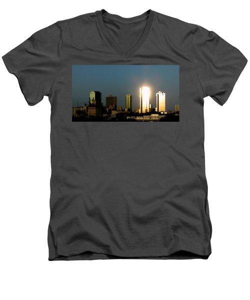 Fort Worth Gold Men's V-Neck T-Shirt by Douglas Barnard