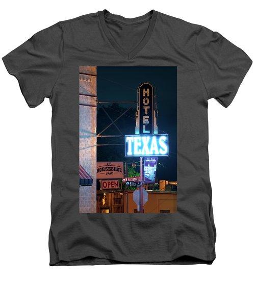 Fort Worth Hotel Texas 6616 Men's V-Neck T-Shirt