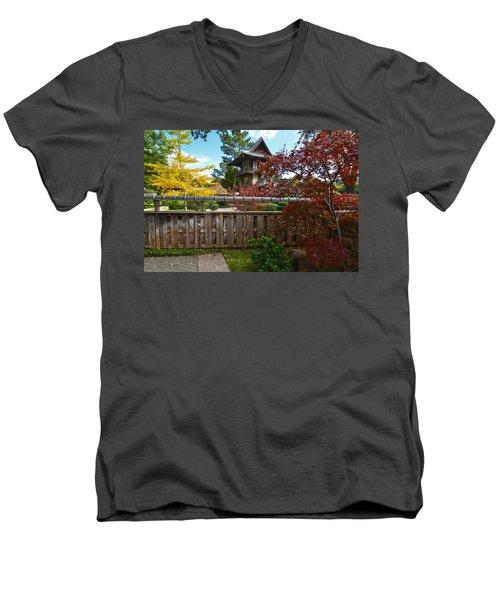 Fort Worth Japanese Gardens 2771a Men's V-Neck T-Shirt