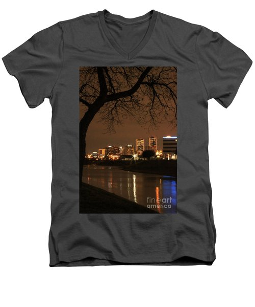 Fort Worth Skyline Men's V-Neck T-Shirt