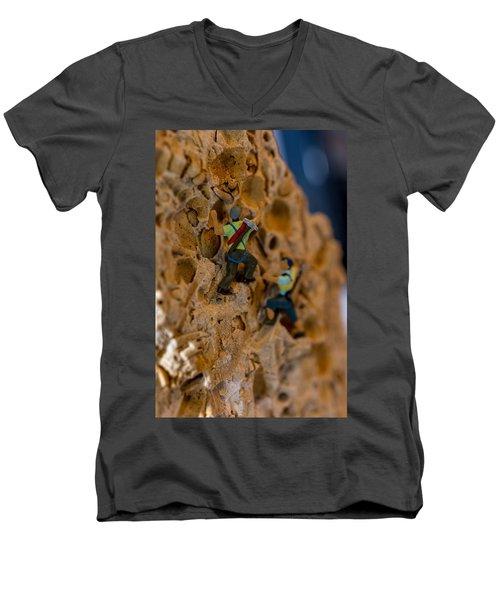 Fossil Rock Climbing Men's V-Neck T-Shirt