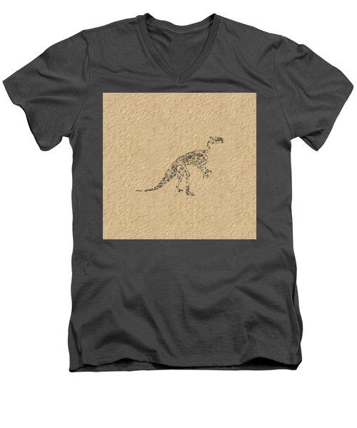 Fossils Of A Dinosaur Men's V-Neck T-Shirt by Anton Kalinichev