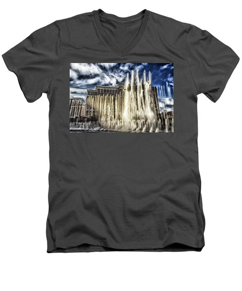 Men's V-Neck T-Shirt featuring the photograph Fountain Of Love by Michael Rogers