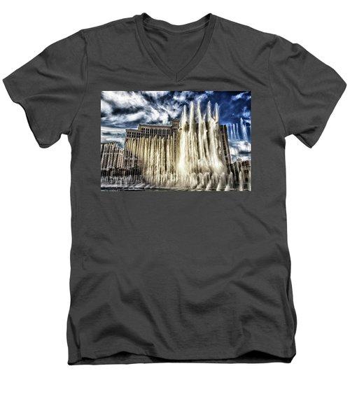Fountain Of Love Men's V-Neck T-Shirt