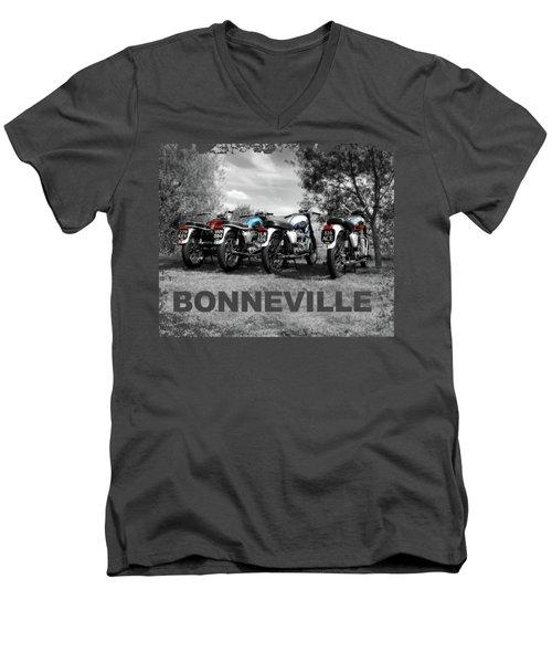 Four Bonnevilles Men's V-Neck T-Shirt