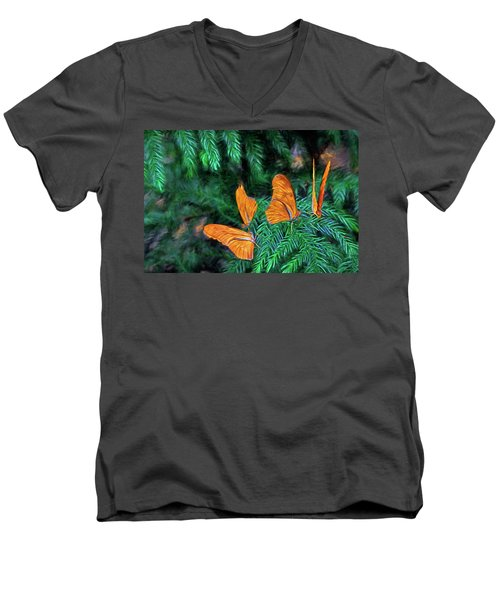 Men's V-Neck T-Shirt featuring the digital art Four Brothers by James Steele