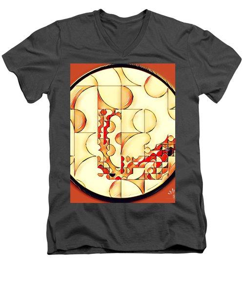 Four Circle Turn Men's V-Neck T-Shirt