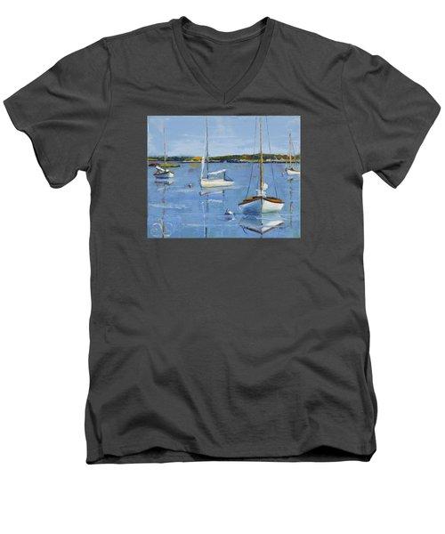 Four Daysailers Men's V-Neck T-Shirt by Trina Teele