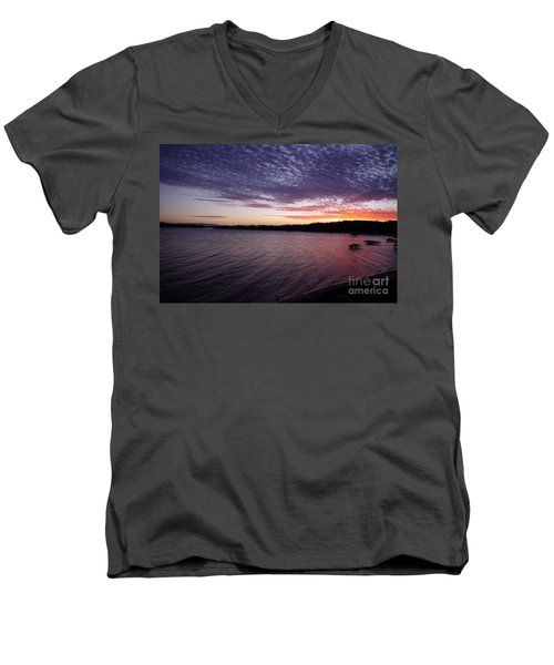 Four Elements Sunset Sequence 4 Coconuts Qld  Men's V-Neck T-Shirt by Kerryn Madsen- Pietsch