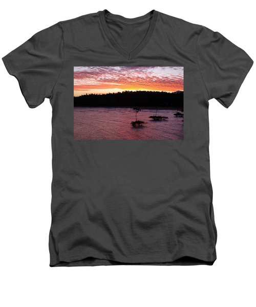 Four Elements Sunset Sequence 5 Coconuts Qld  Men's V-Neck T-Shirt by Kerryn Madsen - Pietsch