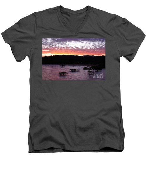 Four Elements Sunset Sequence 8 Coconuts Qld  Men's V-Neck T-Shirt by Kerryn Madsen - Pietsch