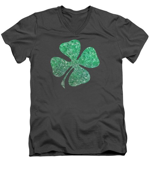 Four Leaf Clover Men's V-Neck T-Shirt