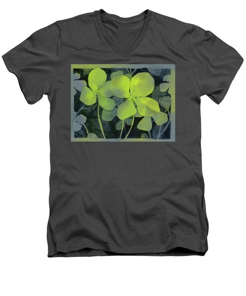 Four Leaf Clover Watercolor Men's V-Neck T-Shirt