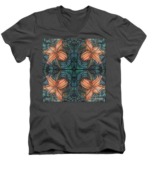 Four Lilies Leaf To Leaf Men's V-Neck T-Shirt