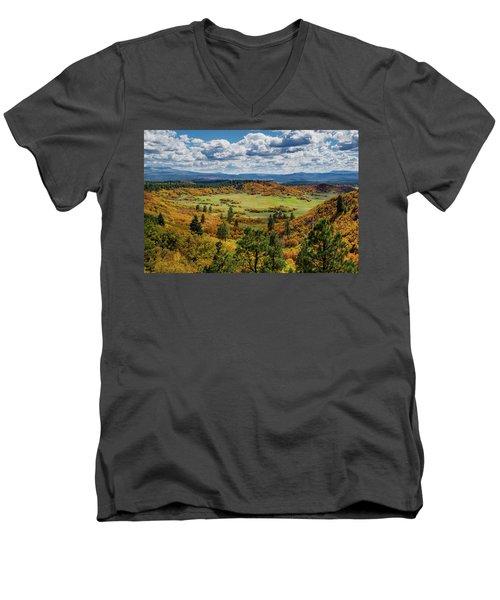 Four Mile Road Peak Color Men's V-Neck T-Shirt
