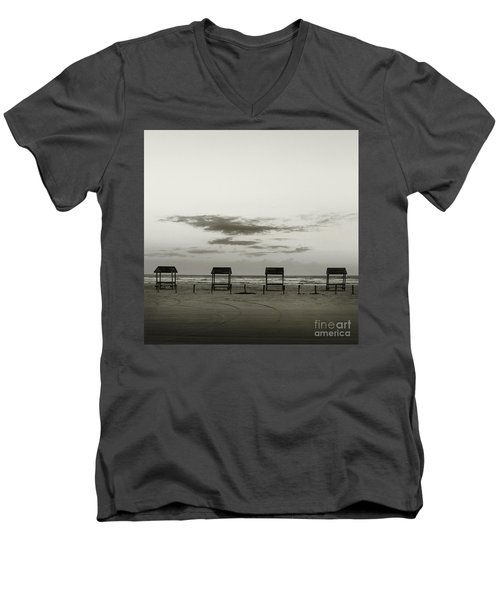 Four On The Beach Men's V-Neck T-Shirt