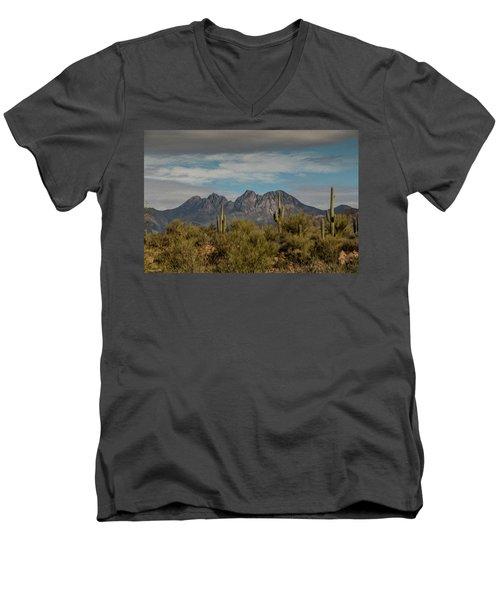 Four Peaks Painterly Men's V-Neck T-Shirt