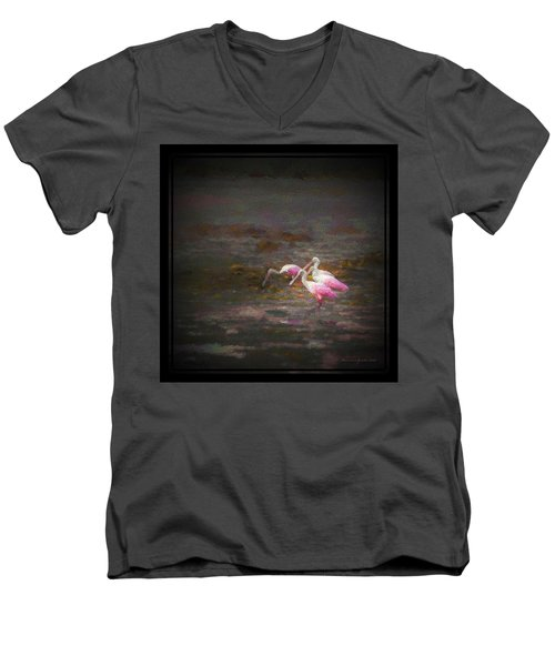 Four Spoons On The Marsh Men's V-Neck T-Shirt by Marvin Spates