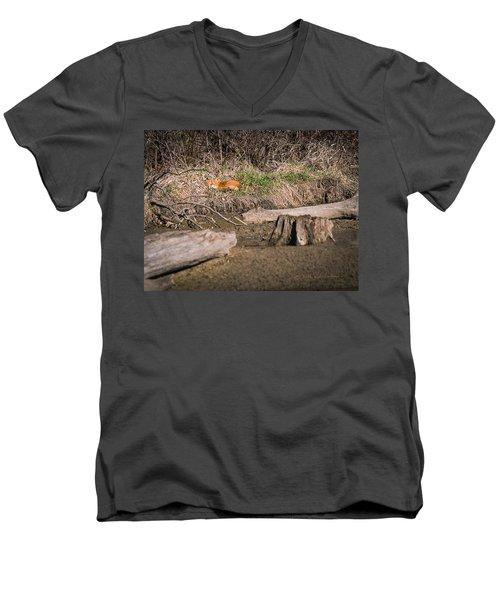 Fox Asleep Men's V-Neck T-Shirt