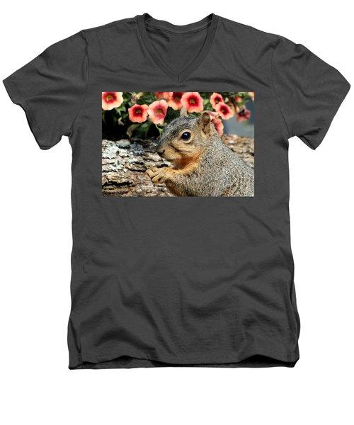 Fox Squirrel Portrait Men's V-Neck T-Shirt