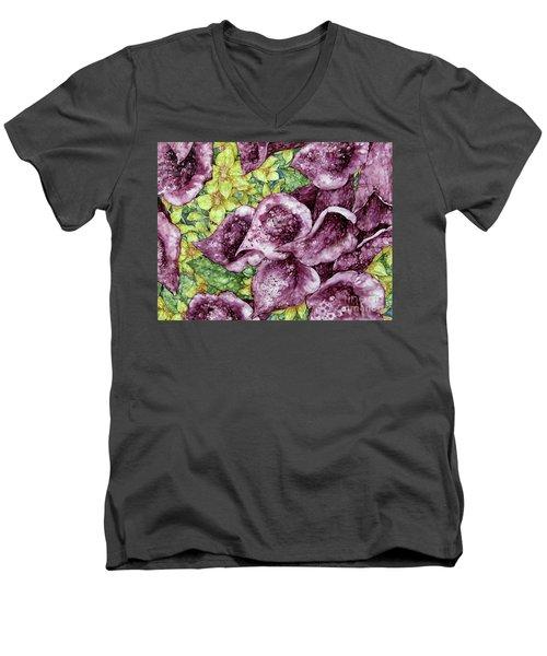 Foxgloves Men's V-Neck T-Shirt