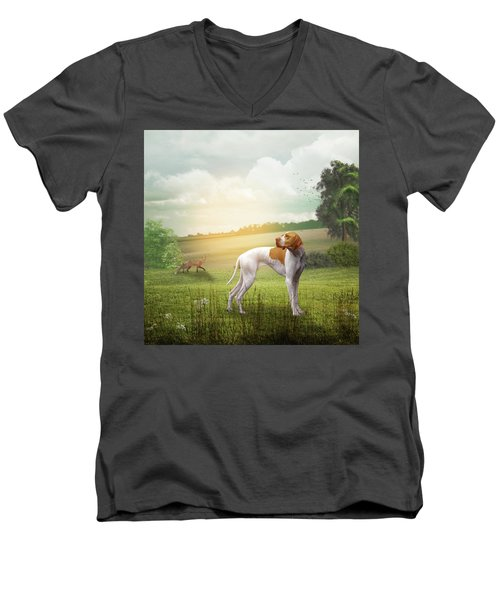 Foxhound Men's V-Neck T-Shirt