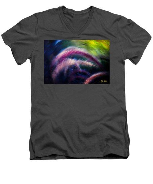 Foxtails In Shadows Men's V-Neck T-Shirt