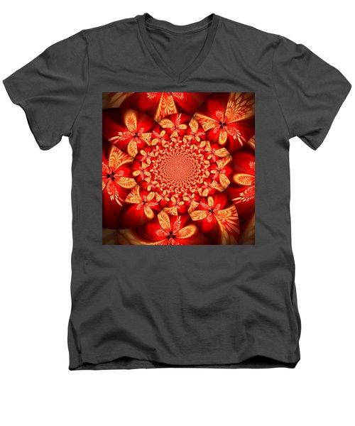Fractal 2 Men's V-Neck T-Shirt