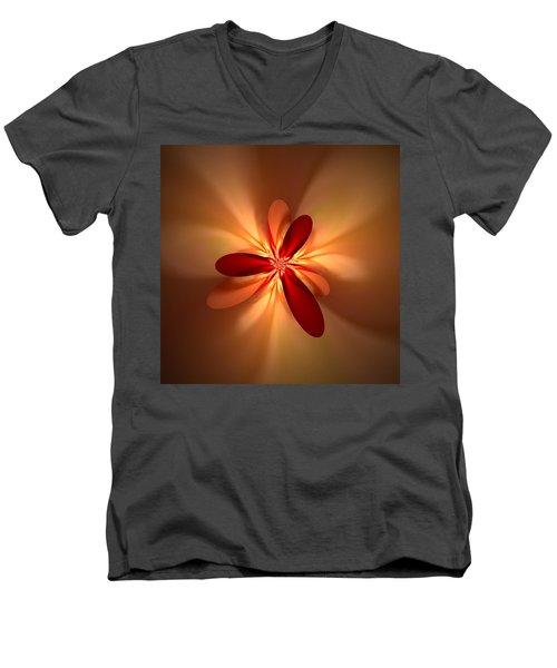 Fractal 4 Men's V-Neck T-Shirt