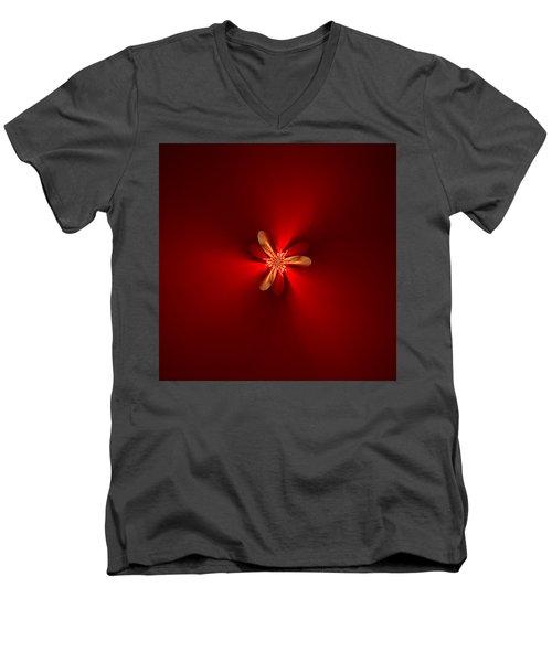 Fractal 5 Men's V-Neck T-Shirt