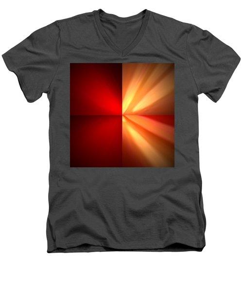 Fractal 6 Men's V-Neck T-Shirt