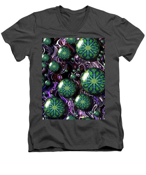 Fractal Abstract 7816.5 Men's V-Neck T-Shirt