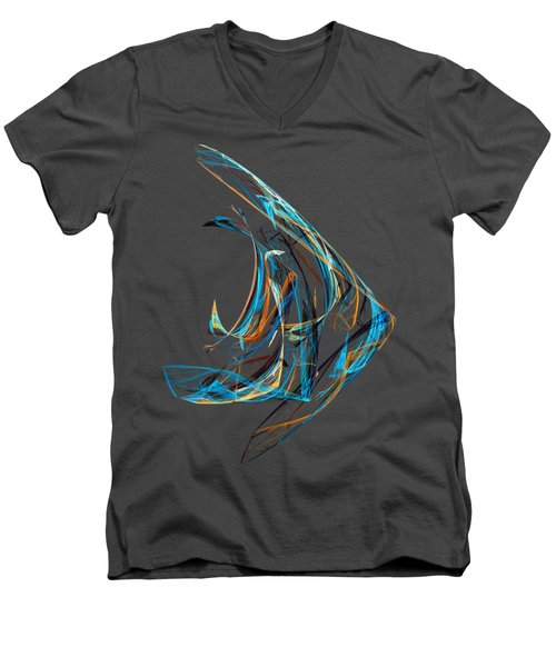 Fractal - Angelfish Men's V-Neck T-Shirt