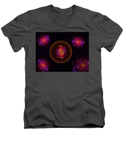 Fractal Flowers Men's V-Neck T-Shirt