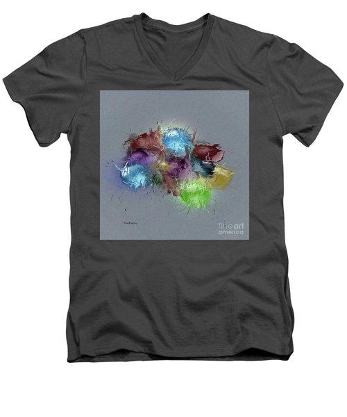 Fractured Bouqet 1 Pc Men's V-Neck T-Shirt by John Krakora