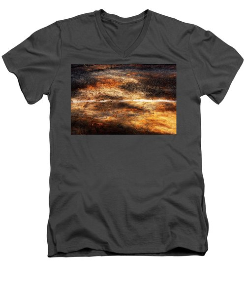 Men's V-Neck T-Shirt featuring the photograph Fractured by Ryan Manuel
