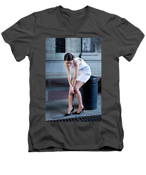 Fragile Men's V-Neck T-Shirt