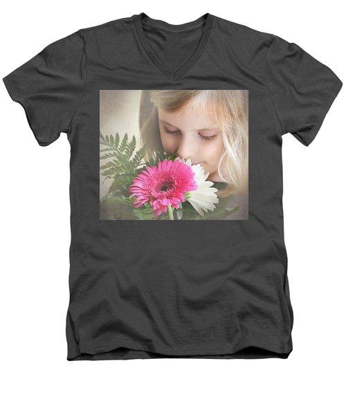 Fragrant  Flowers Men's V-Neck T-Shirt