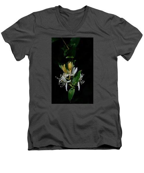 Fragrant Honeysuckle Men's V-Neck T-Shirt by Karen Harrison