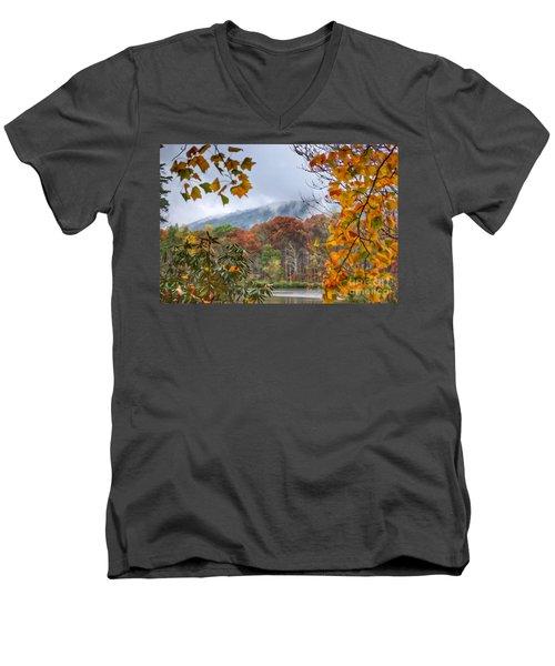Framed By Fall Men's V-Neck T-Shirt