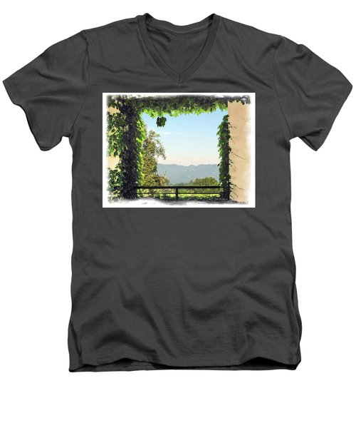 Men's V-Neck T-Shirt featuring the photograph Framing Napa Valley by Joan  Minchak