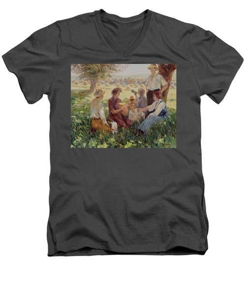 France Country Life  Men's V-Neck T-Shirt