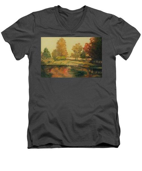 France I Men's V-Neck T-Shirt by Rick Nederlof